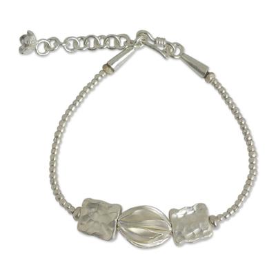 Hand Crafted 950 Silver Bracelet of Karen Hill Tribe Origin