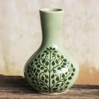 Antique Ceramic Vase Thailand Lanna Celadon Ceramics Other Asian Antiques Antiques