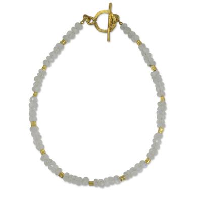 Thai Fair Trade Rainbow Moonstone Bead Bracelet
