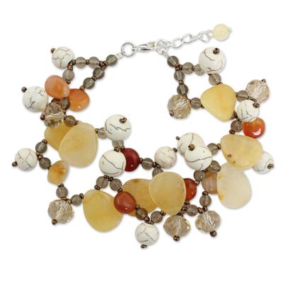 Beaded Carnelian Gemstone Bracelet from Thailand