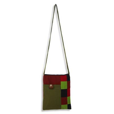 Cotton Patchwork Shoulder Bag Handmade in Thailand