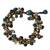 Beaded bracelet, 'Verdant Cattlelaya' - Hand Knotted Beaded Bracelet with Serpentine and Onyx (image 2b) thumbail