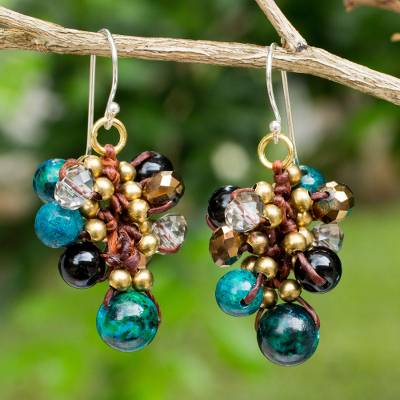 Beaded earrings, Verdant Cattlelaya