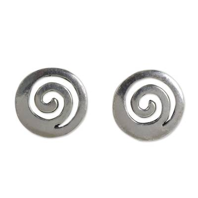Artisan Crafted Sterling Silver Earrings from Thailand
