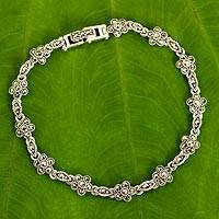 Featured review for Marcasite link bracelet, Daisy Garland