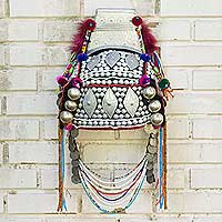 Beaded Akha decorative headdress, 'Timeless Muse I' - Decorative Beaded Head Dress Thai Akha Hill Tribe