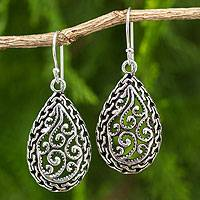 Sterling silver filigree earrings, 'Thai Delight' - Sterling Silver Filigree Earrings Crafted by Hand