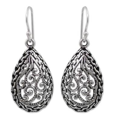 Sterling Silver Filigree Earrings Crafted by Hand