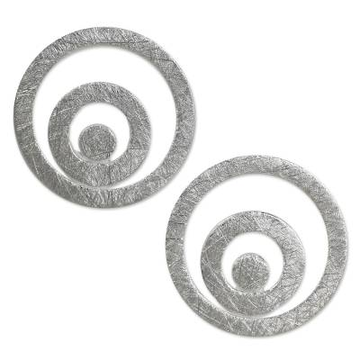Handmade Thai Sterling Silver Button Style Earrings