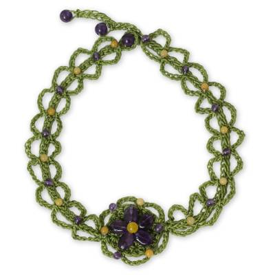 Artisan Crafted Amethyst Beaded Necklace