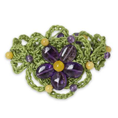 Artisan Crafted Amethyst Beaded Bracelet