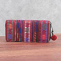Cotton wallet, 'Akha Pride' - Multicolored Cotton Bifold Wallet Crafted by Thai Artisan