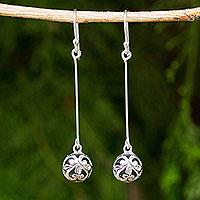 Sterling silver dangle earrings, 'Filigree Charm' - Silver Dangle Earrings Featuring Round Filigree Balls