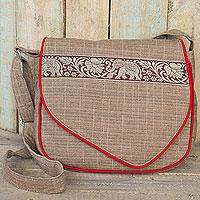Cotton messenger bag,