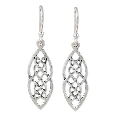 Hand Made Thai Celtic Theme Sterling Silver Earrings