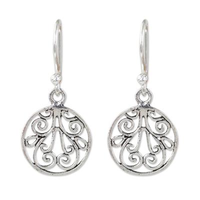 Thai Handmade Sterling Silver Dangle Earrings