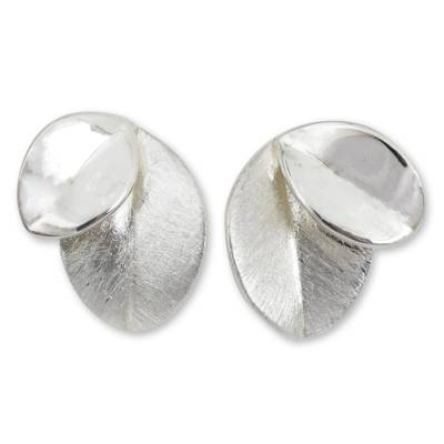 Sterling Silver Handcrafted Nature Inspired Earrings