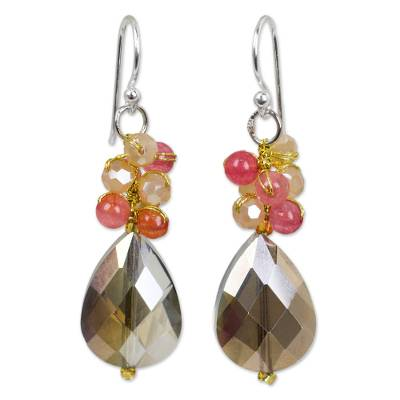 Hand Crafted Beaded Dangle Earrings from Thailand