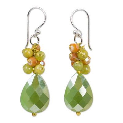 Colorful Beaded Dangle Earrings Handmade in Thailand