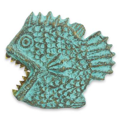 Fish Wall Adornment Handmade Recycled Paper Sculpture