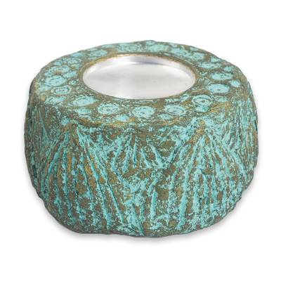 Artisan Crafted Recycled Paper Tealight Candleholder
