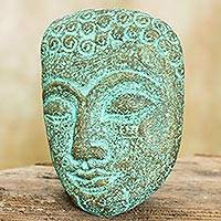 Recycled paper wall sculpture, 'Inspiring Young Buddha' - Buddha Portrait Handmade Recycled Paper Wall Sculpture