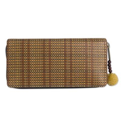 Wallet Crafted from Paper and Cotton with Woven Texture