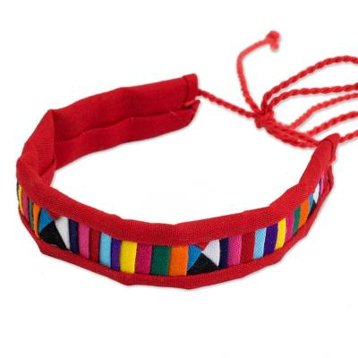 Polyester and Cotton Blend Multicolored Unisex Bracelet