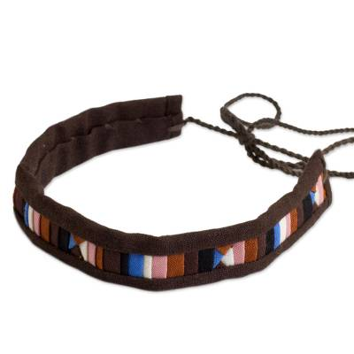Cotton Blend Bracelet in Brown and Multicolor from Thailand