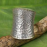 Sterling silver wrap ring, 'Tribal Pride' - Sterling Silver Wrap Ring Crafted by Hand in Thailand