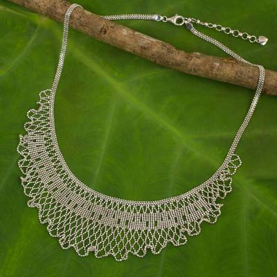 925 Sterling Silver Bead Ball Cascade Unique Pendant Necklace Women Jewelry Gift