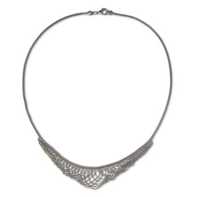 Vintage Style Collar Necklace in 925 Sterling Silver