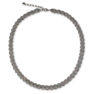Sterling Silver 925 Necklace with Serpentine Curved Design