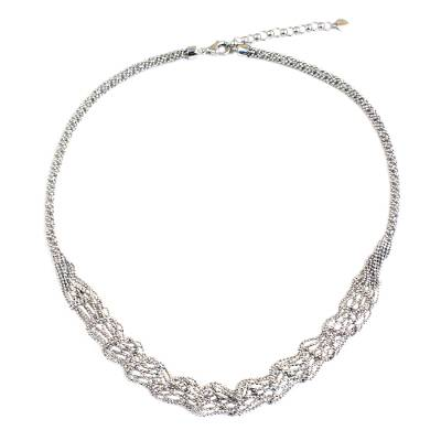 Artisan Crafted Sterling Silver Statement Necklace