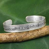 Silver cuff bracelet, 'Karen Magic'