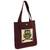 Cotton blend tote bag, 'Playful Owl' (14 in.) - Forest Owl Cotton Blend 14 Inch Tote Bag in White and Brown (image 2b) thumbail