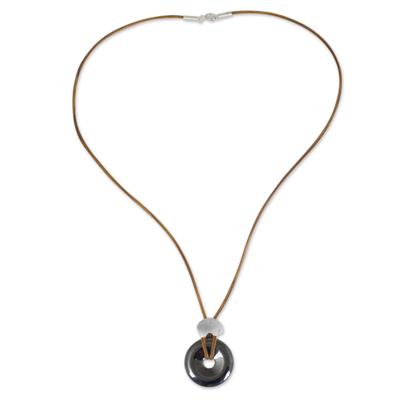 Unique Hematite Elephant Themed Pendant Necklace