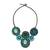 Calcite beaded necklace, 'Icy Forest' - Blue and Green Beaded Necklace Thai Ethnic Style (image 2a) thumbail