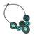 Calcite beaded necklace, 'Icy Forest' - Blue and Green Beaded Necklace Thai Ethnic Style (image 2b) thumbail