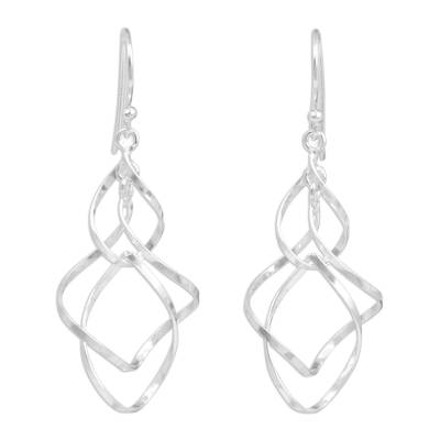 Hand Crafted Sterling Silver 925 Dangle Style Earrings