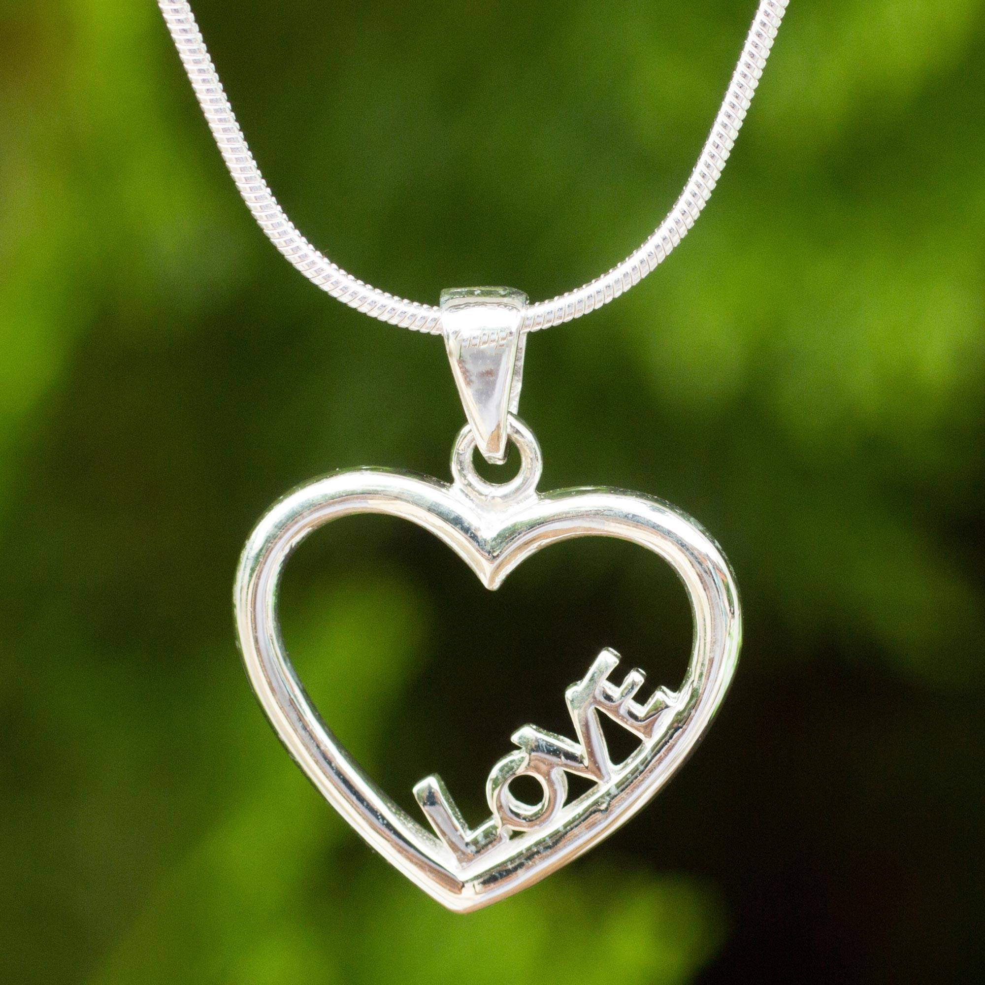 ZEN DEAL Silver Heart Pendant to My Wife Necklace Without You Im Nothing Best Romantic Gift for Your Wife
