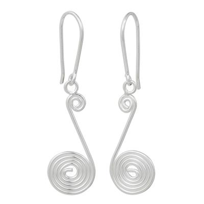 Handmade Sterling Silver Dangle Earrings from Thailand