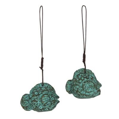 2 Eco-Friendly Recycled Paper Thai Fish Theme Ornaments
