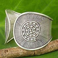 Featured review for Silver cuff bracelet, The Rising Sun