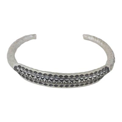Hand Crafted Silver Cuff Bracelet from Thailand
