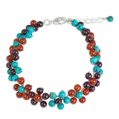 Artisan Crafted Gemstone Beaded Adjustable Bracelet