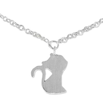 Cat Theme Thai Artisan Crafted Sterling Silver Anklet