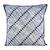 Cotton cushion cover, 'Blue Bamboo Lattice' - 24x24 Inch Blue Cotton Batik Cushion Cover from Thailand thumbail