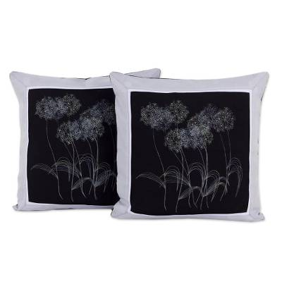 100% Cotton Floral Cushion Covers from Thailand (Pair)