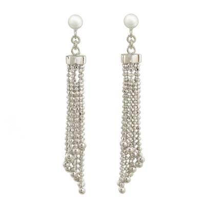 Artisan Crafted Sterling Silver 925 Waterfall Earrings
